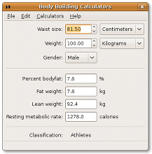 Body fat estimator
