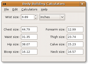 ideal body  measurements